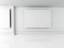 för galleribild för bakgrund 3d framförd interior Mellanrumsramar på väggen Arkitekturdesign tillbaka vektor illustrationer