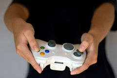 för gamepadstyrspak för konsol modig video fotografering för bildbyråer