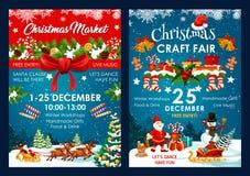 För garneringvektor för jul ganska affischer royaltyfri illustrationer