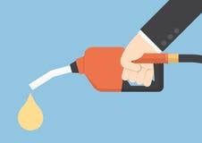 För gasbränsle för hand hållande dysa för pump Arkivfoton