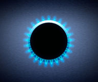 för gashob för blå flamma ugn stock illustrationer
