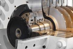 För gaskompressor för olje- plattform tung detalj för maskineri norway Royaltyfria Foton