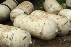För gaslagring för CNG NGV behållare Arkivfoton