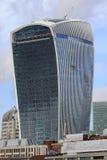 För gata'walkie-talkie' för 20 Fenchurch byggnad - London Arkivfoto
