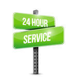24 för gatatecken för timme tjänste- design för illustration Royaltyfri Fotografi