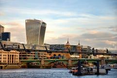 För gatawalkie-talkie för 20 Fenchurch byggnad - London, UK Arkivbilder