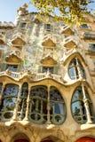 ² för Gaudi casabatllÃ, Barcelona Royaltyfria Foton