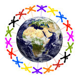 För gemenskap jordtextur över hela världen - av NASA gov. stock illustrationer