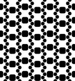 För geometrimodell för vektor modern sömlös dna, svartvitt abstrakt begrepp Arkivbilder