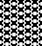 För geometrimodell för vektor modern sömlös dna, svartvitt abstrakt begrepp Royaltyfria Bilder