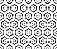 För geometrimodell för vektor modern sömlös sexhörning, svartvitt abstrakt begrepp Arkivfoto