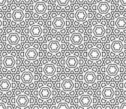 För geometrimodell för vektor modern sömlös snöflinga stock illustrationer