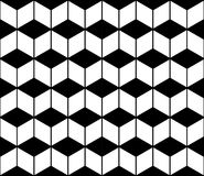 För geometrimodell för vektor modern sömlös sparre, svartvitt abstrakt begrepp vektor illustrationer