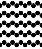 För geometrimodell för vektor modern sömlös sparre, svartvitt abstrakt begrepp Royaltyfri Bild