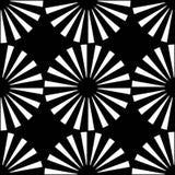 För geometrimodell för vektor modernt sömlöst mål, svartvitt abstrakt begrepp Royaltyfri Fotografi
