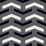 För geometrimodell för vektor modern sömlös sparre, svartvit abstrakt geometrisk bakgrund, subtilt kuddetryck, monokromt beträffa royaltyfri illustrationer