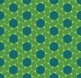 För geometrisexhörning för vektor modern sömlös färgrik modell, färgabstrakt begrepp stock illustrationer