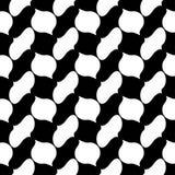 För geometritegelplattor för vektor modern abstrakt modell svartvit sömlös geometrisk bakgrund royaltyfri illustrationer