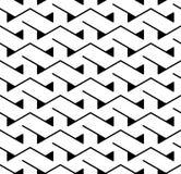 För geometritriangel för vektor modern abstrakt modell svartvit sömlös geometrisk bakgrund stock illustrationer