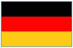 för germany för tillgänglig flagga vektor glass stil Arkivbilder