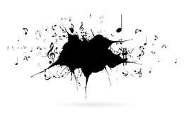 för gitarrillustration för begrepp elektrisk musik Arkivbilder