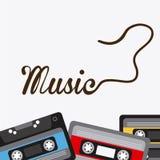för gitarrillustration för begrepp elektrisk musik Royaltyfri Foto