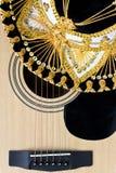 för gitarrillustration för begrepp elektrisk musik Royaltyfri Bild