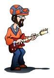 För gitarristlek för man kall gitarr Arkivfoton