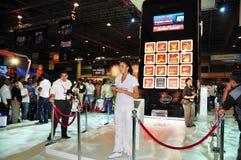 för gitexpresentation för 2008 strid shoppare toshiba Arkivfoton
