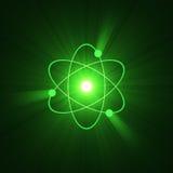 för gloriatecken för atom atom- struktur royaltyfri illustrationer