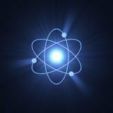 för gloriatecken för atom atom- struktur Royaltyfria Bilder