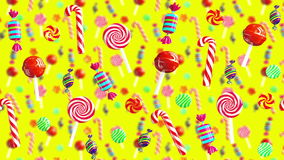 För godisklubba för ljus glamour söt saftig flyttning för socker för kola för karamell för chups för chupa från rakt till vänster vektor illustrationer