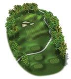 för golfhål för kurs 3d orienteringar Royaltyfri Fotografi