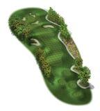 för golfhål för kurs 3d orienteringar Royaltyfri Foto