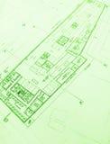 för golvorientering för arkitektur kommersiella plan Royaltyfri Bild