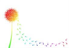 För gränshälsning för blomma musikaliskt kort