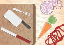 för gräsplanlök för morötter vätte nya grönsaker för tomat för tabell trä Arkivfoton