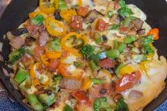 För grönsak omelett medly Royaltyfria Bilder