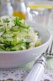 för grönsallatmix för gurka ny grönsak för tomat för sallad Arkivbild