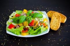 för grönsallatmix för gurka ny grönsak för tomat för sallad Arkivbilder