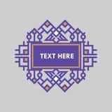För gradbeteckningram för Retro design lyxig mall för logotyp Affärstecken, identitet för restaurangen, royalty, boutique, hotell Fotografering för Bildbyråer