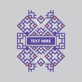 För gradbeteckningram för Retro design lyxig mall för logotyp Affärstecken, identitet för restaurangen, royalty, boutique, hotell Arkivbild