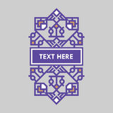 För gradbeteckningram för Retro design lyxig mall för logotyp Affärstecken, identitet för restaurangen, royalty, boutique, hotell Arkivfoton