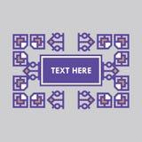 För gradbeteckningram för Retro design lyxig mall för logotyp Affärstecken, identitet för restaurangen, royalty, boutique, hotell Royaltyfri Bild