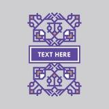 För gradbeteckningram för Retro design lyxig mall för logotyp Affärstecken, identitet för restaurangen, royalty, boutique, hotell Arkivbilder