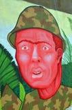 för grafittigata för konst färgrik räknad vägg Royaltyfria Foton