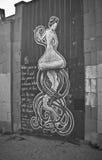 för grafittigata för konst färgrik räknad vägg Royaltyfria Bilder