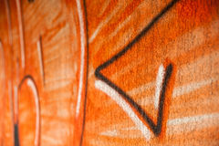 för grafittigata för konst färgrik räknad vägg Fotografering för Bildbyråer