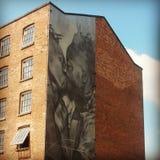 för grafittigata för konst färgrik räknad vägg Arkivfoton