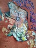 för grafittigata för konst färgrik räknad vägg minsk Royaltyfria Foton